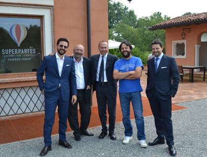 I fondatori di Superpartes con Angelo Facchinetti, amministratore delegato di Mittel Management e Responsabile Partecipazioni Gruppo Mittel