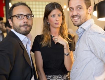 I fondatori di Lovethesign: Vincenzo Cannata, Laura Angius e Simone Panfilo