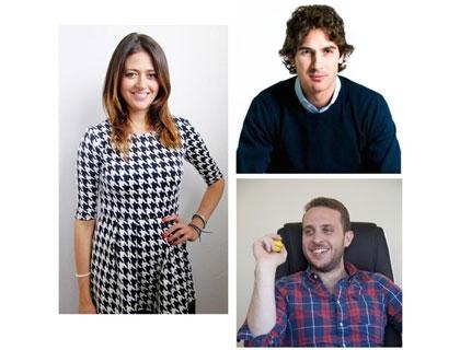 I fondatori di CharityStars: Manuela Ravalli, Francesco Nazari Fusetti e Domenico Gravagno