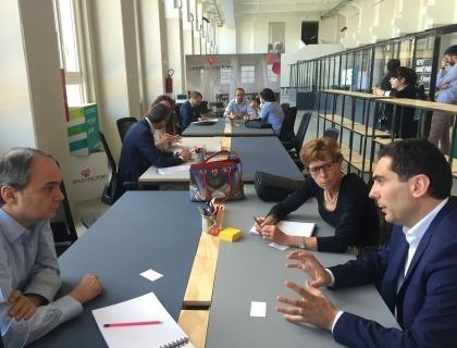 La sessione di colloqui con tra startup e investitori
