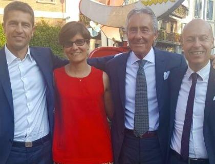 Da sinistra: Alessandro Zucchetti (presidente Gruppo Zucchetti), Mariarita Costanza (cto Macnil Zucchetti), Danilo Restelli (ceo Geotronic) e Nicola Lavenuta (ceo Macnil)