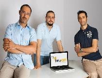 Gli ideatori di TakeOff: da sinistra Davide Dessì, Davide Pesce e Thomas Iacchetti