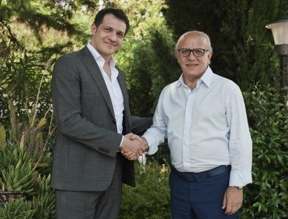 Il business angel Luca Ruju e il direttore di Giffoni Experience, Claudio Gubitosi