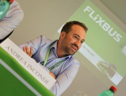 Andrea Incondi, managing director per l'Italia di Flixbus