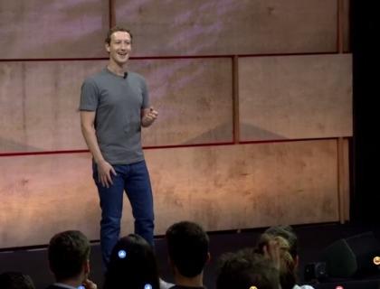 Mark Zuckerberg durante il suo discorso alla LUISS