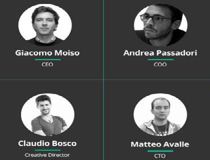 Fluentify, ecco i fondatori: Andrea Passadori, Giacomo Moiso, Claudio Bosco, Matteo Avalle