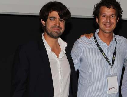 Matteo Fagin, founder di GiPSTech, a destra, con Luca Ascani di Populis