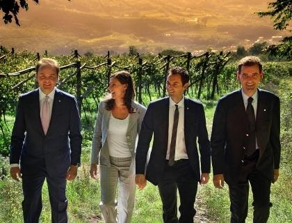 Matteo, Camilla, Alessandro e Marcello Lunelli
