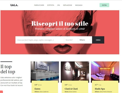 La homepage di Uala.it