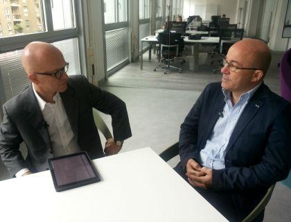 Giovanni Iozzia e Roberto Cingolani, direttore dell'Istituto Italiano di Tecnologia