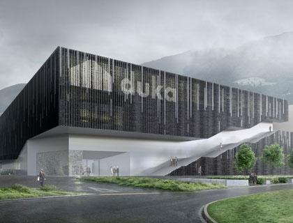 Il progetto del nuovo stabilimento Duka a Bressanone