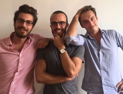 Il team di Oilproject che si è occupato del progetto: da destra il founder Marco De Rossi, Luca Ghirimoldi e Federico Invernizzi
