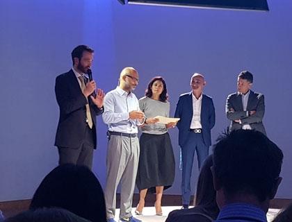 Andrea Rangone, CEO di Digital360, durante l'evento conclusivo di Samsung App Academy
