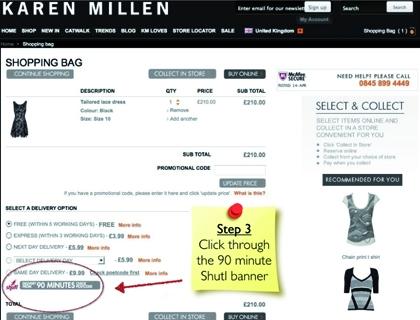 90 Minutes è un sistema, usato da 4 catene di abbigliamento presenti in Gran Bretagna, che garantisce la consegna di un acquisto on-line entro un'ora e mezza