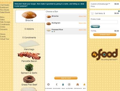 4food a New York è un'hamburgeria di qualità e un modello di forte interazione: il cliente 'registra' la sua ricetta, la 'brandizza' e riceve le royalties (in buoni sconto) per ogni vendita.