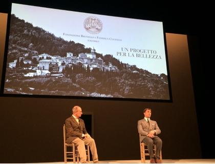 Brunello Cucinelli con l'architetto Massimo De Vico Fallani