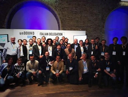 La delegazione italiana all'Unbound Digital