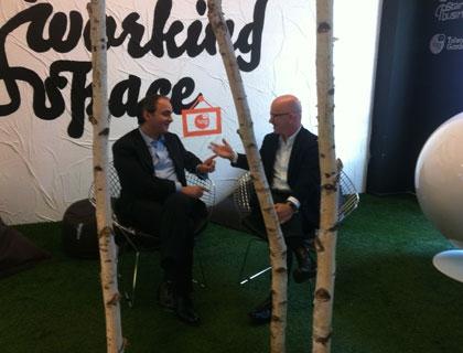 Giovanni Iozzia con Claudio Giuliano, fondatore di Innogest, il più grande fondo italiano di venture capital
