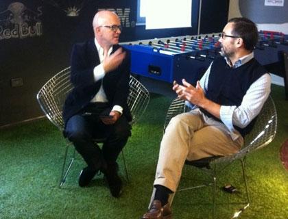Giovanni Iozzia con Paolo Galvani, presidente di Moneyfarm