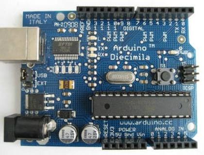 Il modello Diecimila della scheda Arduino