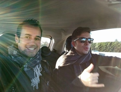 Marcello Coppa, a sinistra, e Andrea Landini in Silicon Valley