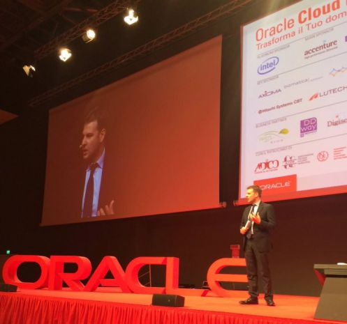 Fabio Spoletini, country manager di Oracle, all'Oracle Cloud Day