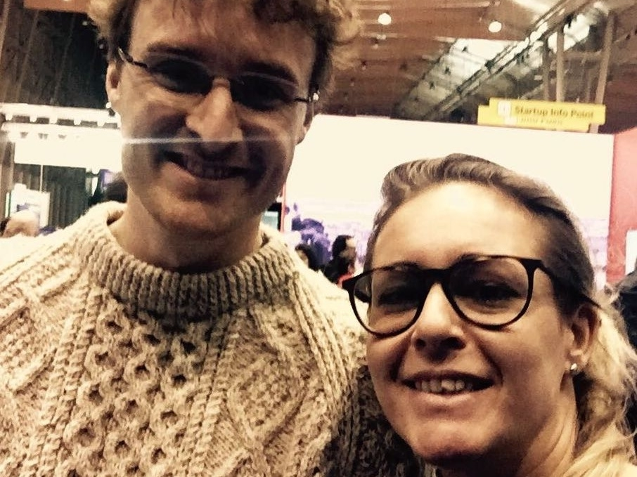 Daniela Galvani, co-founder di What a Space, con Paddy Cosgrave, founder di Web Summit