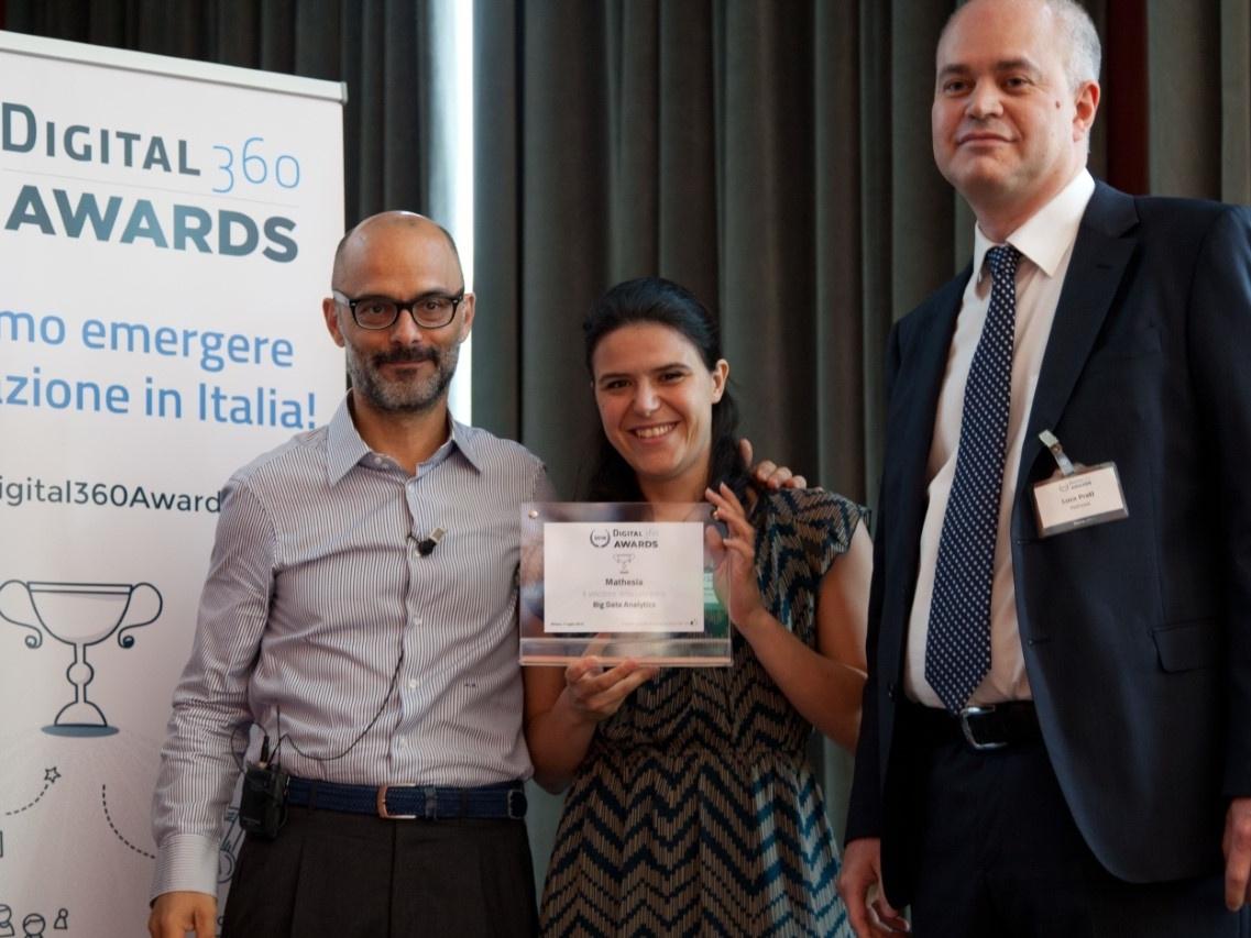 La premiazione di Mathesia ai Digital360 Awards