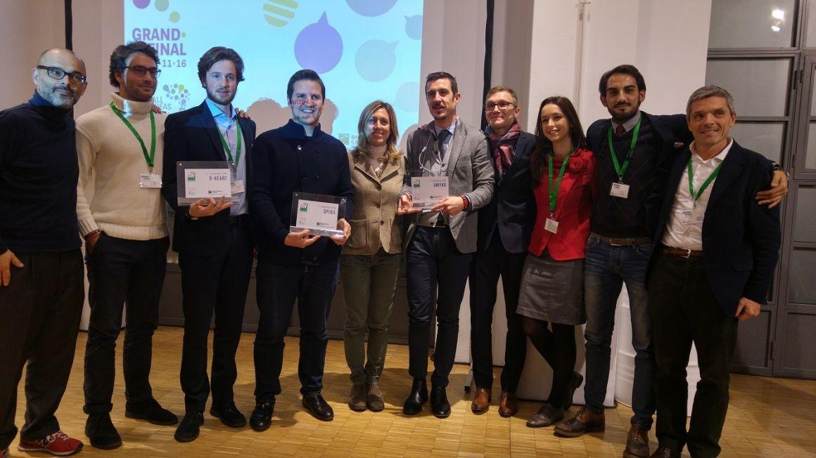 La premiazione dei vincitori di Open-F@b Cardif Call4ideas 2016