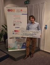 Francesco Nazari Fusetti, Ceo & Founder di CharityStars durante la premiazione