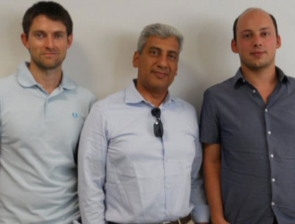 Il team di wearable light exoskeleton: Basilio Lenzo, Alessandro Filippeschi e Fabio Salsedo