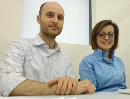 Il team di Neuron Guard: il Ceo Enrico Giuliani e la Cmo Mary Franzese