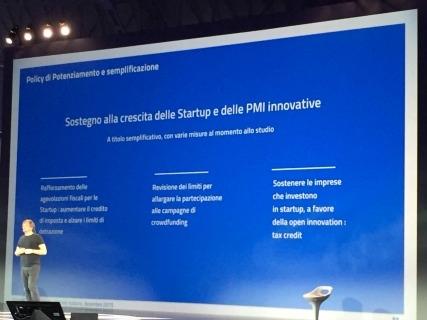 Paolo Barberis, consigliere per l'Innovazione del premier, durante l'intervento a